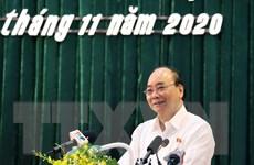Thủ tướng ghi nhận kiến nghị của cử tri tại buổi tiếp xúc ở An Lão