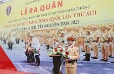 Ra quân bảo đảm trật tự, an toàn giao thông phục vụ Đại hội Đảng