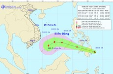 Vùng áp thấp di chuyển theo hướng Tây Tây Bắc và đi vào Biển Đông