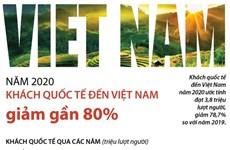 [Infographics] Năm 2020, khách quốc tế đến Việt Nam giảm gần 80%
