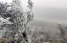 Quảng Ninh: Một số nơi nhiệt độ xuống thấp, xuất hiện băng giá