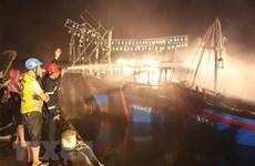 Quảng Ngãi: Hỏa hoạn thiêu rụi một tàu cá đang neo đậu