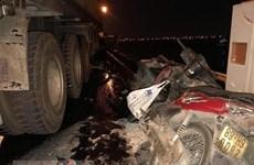 Bình Thuận: Sau tai nạn, xe đầu kéo cuốn nạn nhân đi gần 60km