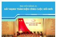 [Infographics] Đại hội Đảng XI: Đẩy mạnh toàn diện công cuộc đổi mới