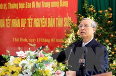 Thường trực Ban Bí thư tặng quà hộ nghèo, công nhân ở Thái Bình