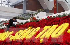 [Photo] Hoàn tất công tác chuẩn bị ngày khai mạc Đại hội Đảng XIII
