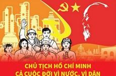[Infographics] Chủ tịch Hồ Chí Minh: Cả cuộc đời vì nước, vì dân