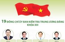 [Infographics] 19 đồng chí trong Ủy ban Kiểm tra TW Đảng khóa XIII