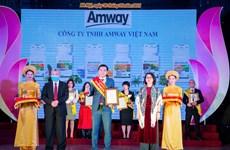 Amway Việt Nam nhận giải thưởng Sản phẩm Vàng vì sức khoẻ cộng đồng