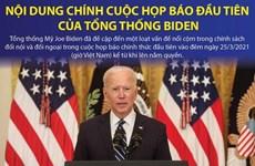 Nội dung chính trong cuộc họp báo đầu tiên của Tổng thống Biden