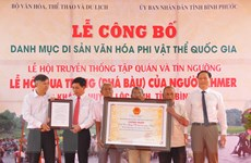 [Photo] Lễ hội Phá Bàu trở thành di sản văn hóa phi vật thể quốc gia