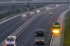 Tước giấy phép lái xe đối với tài xế đi ngược chiều trên cao tốc