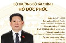[Infographics] Tiểu sử tân Bộ trưởng Bộ Tài chính Hồ Đức Phớc