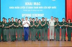 [Photo] Khai mạc khóa huấn luyện sỹ quan tham mưu Liên hợp quốc