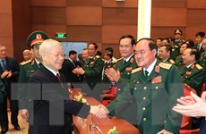 [Photo] Tổng Bí thư dự Lễ kỷ niệm 70 năm truyền thống Bệnh viện 108