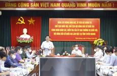 Chủ tịch QH Vương Đình Huệ kiểm tra công tác bầu cử tại Tuyên Quang