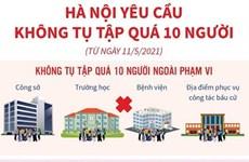 [Infographics] Thành phố Hà Nội yêu cầu không tụ tập quá 10 người