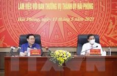 Chủ tịch Quốc hội làm việc với Ban Thường vụ Thành ủy Hải Phòng
