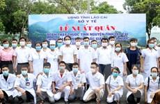 Đoàn y, bác sỹ Lào Cai lên đường hỗ trợ Bắc Giang phòng, chống dịch