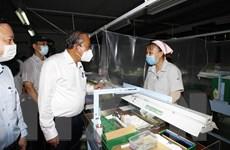 Phó Thủ tướng Trương Hòa Bình kiểm tra công tác phòng dịch ở TP.HCM