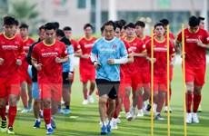 [Photo] Đội tuyển Việt Nam tập luyện chuẩn bị cho trận gặp Indonesia