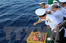 [Photo] Thiêng liêng lễ tưởng niệm liệt sỹ Trường Sa trên Biển Đông