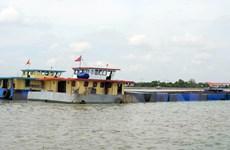 TP Hồ Chí Minh liên tiếp phát hiện các vụ vận chuyển cát trái phép