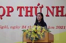 Bà Bùi Thị Quỳnh Vân tiếp tục giữ chức Chủ tịch HĐND tỉnh Quảng Ngãi