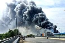 Đồng Nai: Cháy lớn tại Công ty hóa chất ở khu công nghiệp Long Bình