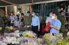 TP.HCM tạm dừng tập kết giao hàng tại chợ đầu mối nông sản Thủ Đức