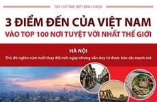 3 điểm đến của Việt Nam vào tốp 100 nơi tuyệt vời nhất thế giới