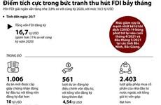 [Infographics] Điểm sáng trong bức tranh thu hút vốn FDI 7 tháng