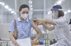 [Photo] Hà Nội triển khai tiêm vaccine diện rộng tại khu công nghiệp