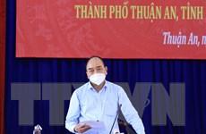 Chủ tịch nước: Bình Dương cần hạn chế ca nhiễm, không dẫn đến quá tải
