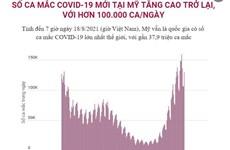 [Infographics] Số ca mắc COVID-19 mới tại Mỹ tăng cao trở lại