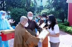 Tri ân tình nguyện viên tôn giáo hoàn thành hỗ trợ chống dịch ở TP.HCM