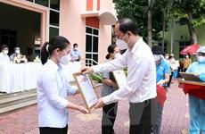 TP.HCM: Tri ân tình nguyện viên tôn giáo hỗ trợ tuyến đầu chống dịch