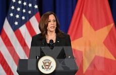 Phó Tổng thống Hoa Kỳ Kamala Harris họp báo nhân chuyến thăm Việt Nam