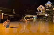 Bình Phước: Mưa lớn gây ngập sâu diện rộng, một khu phố bị cô lập