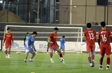 Hình ảnh đội tuyển Việt Nam tập buổi thứ 3 trên sân ở Riyadh