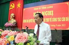 Ông Nguyễn Thành Thế giữ chức vụ Phó Bí thư Tỉnh ủy Vĩnh Long