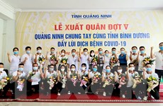 Nhiều nhân viên y tế Quảng Ninh lên đường hỗ trợ Bình Dương chống dịch