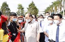 Chủ tịch nước dự Lễ khai giảng ở trường THPT dân tộc nội trú Yên Bái