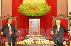 [Photo] Tổng Bí thư Nguyễn Phú Trọng tiếp Ngoại trưởng Trung Quốc