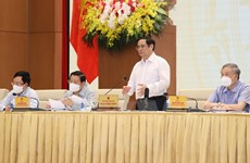 Thủ tướng chủ trì hội nghị của CP về xây dựng và hoàn thiện thể chế