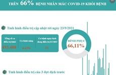 [Infographics] Trên 66% bệnh nhân COVID-19 được công bố khỏi bệnh