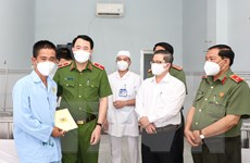 Lãnh đạo Bộ Công an thăm hỏi cảnh sát, bảo vệ dân phố bị thương