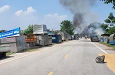 Hình ảnh ô nhiễm môi trường làng nghề tháo dỡ xe, động cơ ở Vĩnh Phúc