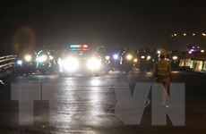 CSGT Hà Nội xuyên đêm túc trực đón dẫn người từ vùng dịch qua địa bàn