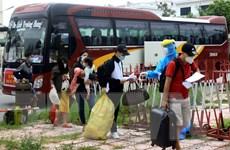 Thái Bình đón gần 500 người dân từ các tỉnh phía Nam về quê an toàn
